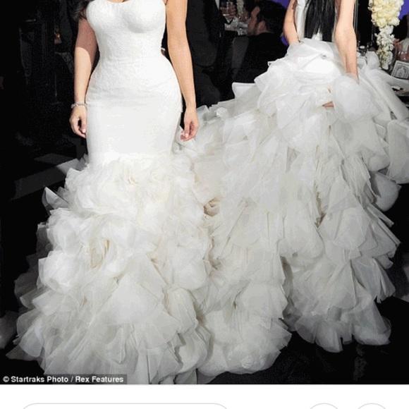 Wedding Dress Mermaid Kim Kardashian